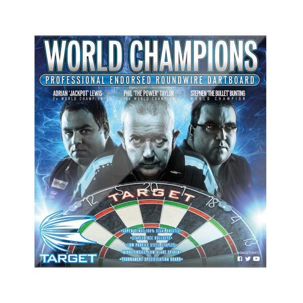 WORLD CHAMPIONS 109045 ROUND WIRE DARTBOARD 2
