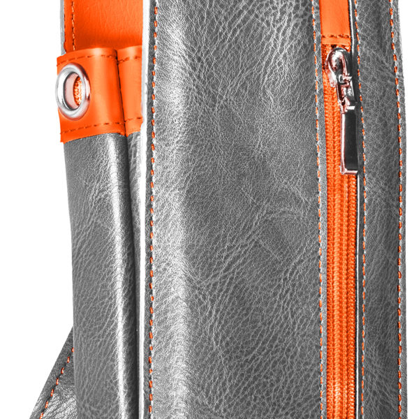 Daytona Wallet Grey & Orange 125750 Front