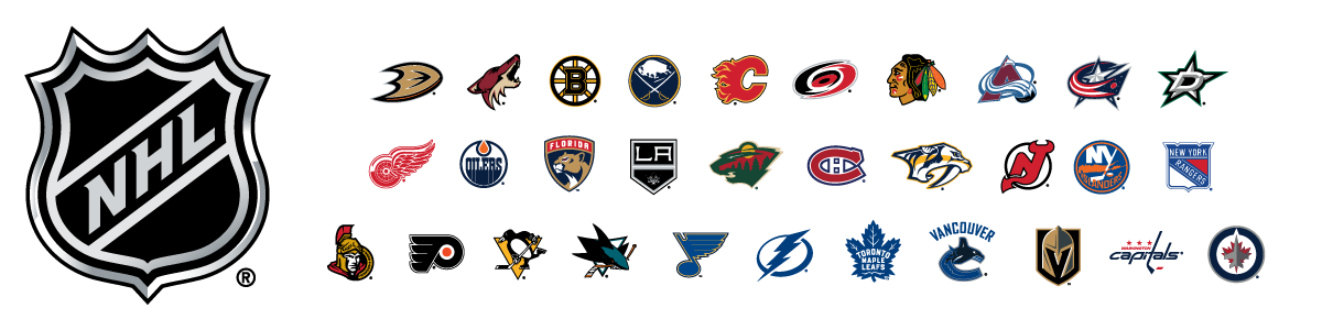 673467de09c NHL Team Logos. NHL Team Logos. NHL and the NHL Shield are registered  trademark of the National Hockey League.