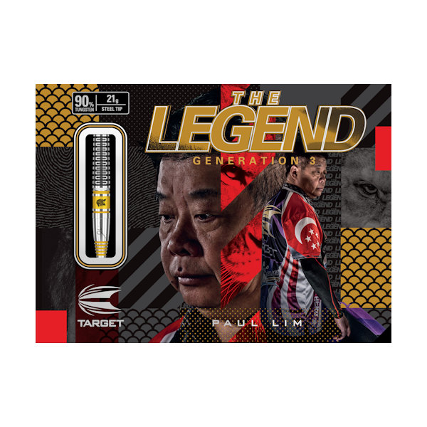 100785 PAUL LIM LEGEND G3 90% 21G JAPAN STEEL TIP DARTS 2019 PACKAGING
